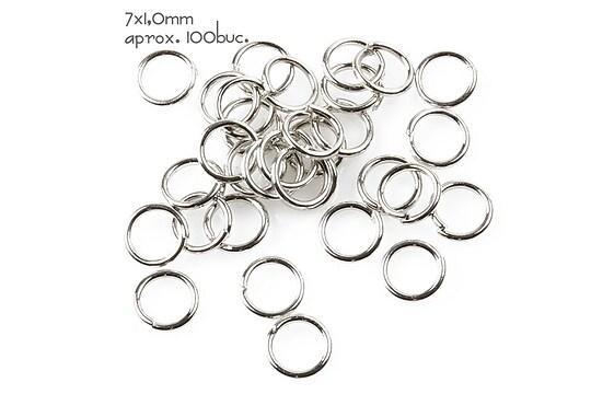 Zale argintiu inchis 7mm (grosime 1,0mm)