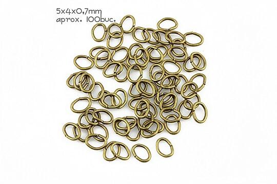 Zale bronz ovale 5x4mm (grosime 0,7mm)
