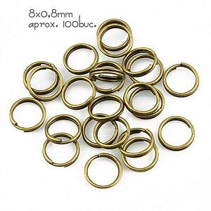 Zale bronz duble 8mm (grosime 0,8mm)