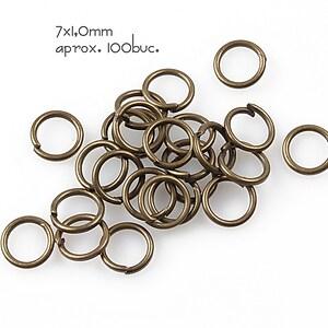 Zale bronz 7mm (grosime 1,0mm)
