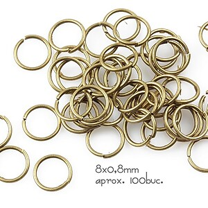 Zale bronz 8mm (grosime 0,8mm)