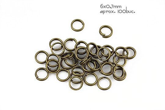 Zale bronz duble 6mm (grosime 0,7mm)