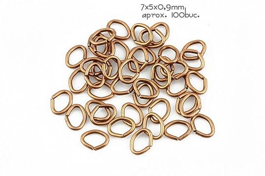 Zale cupru deschis ovale 7x5mm (grosime 0,9mm)