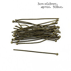 Ace cu bila bronz 3cm, grosime 0,5mm (50 buc.)
