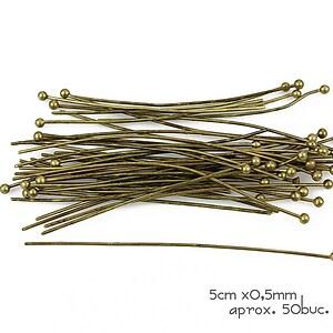 Ace cu bila bronz 5cm, grosime 0,5mm (50 buc.)