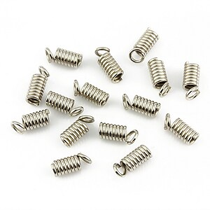 Terminatie de snur argintiu inchis 9x4mm (10 buc.)