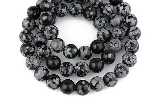 Snowflake obsidian sfere 6mm
