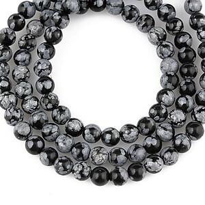 Snowflake obsidian sfere 4mm (10buc.)