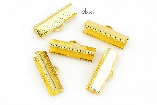 Capat snur auriu 20x7mm (10buc.)