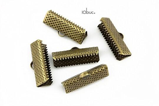 Capat snur bronz 20mm (10buc.)
