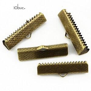 Capat snur bronz 25mm (10buc.)