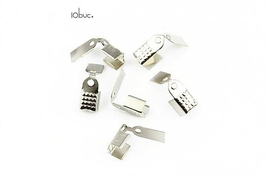 Capat snur argintiu inchis 9x5mm (10buc.)