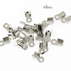 Capat snur argintiu inchis 3mm (8x4x3mm) (10buc.)
