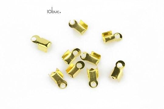 Capat snur auriu 8x4mm (10buc.)