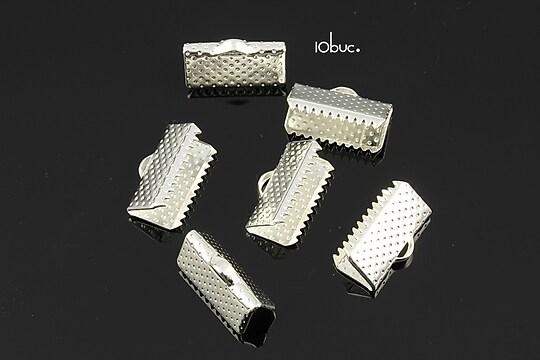 Capat snur argintiu 13mm (13x7x5mm) (10buc.)