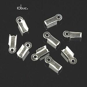 Capat snur argintiu 3mm (9x4x3mm) (10buc.)