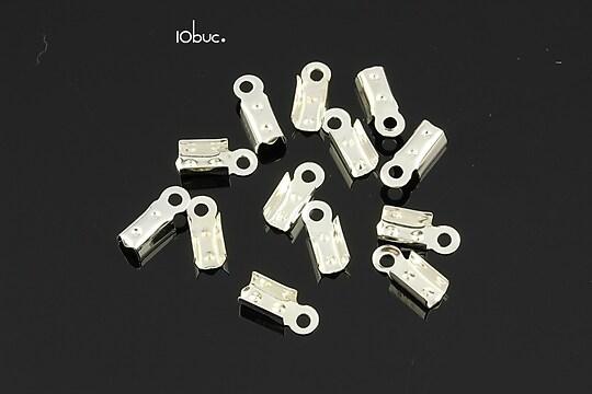 Capat snur argintiu latime 3mm (3x10x4mm) (10buc.)