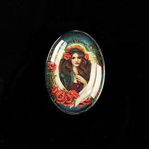 "Cabochon sticla 25x18mm ""Antique Goddess"" cod 405"