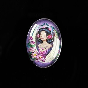 "Cabochon sticla 25x18mm ""Antique Goddess"" cod 407"