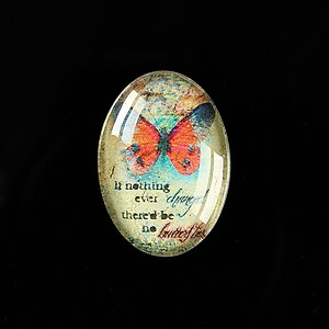 "Cabochon sticla 25x18mm ""Mystic World"" cod 414"