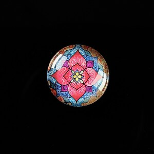 "Cabochon sticla 18mm ""Abstract Art"" cod 418"