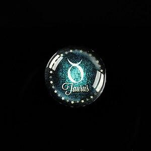 """Cabochon sticla 18mm """"Zodiac Signs"""" taur cod 420"""