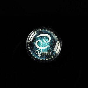 "Cabochon sticla 18mm ""Zodiac Signs"" rac cod 422"