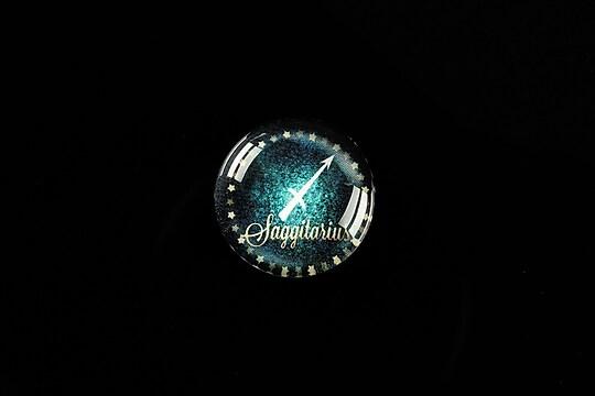"Cabochon sticla 18mm ""Zodiac Signs"" sagetator cod 427"
