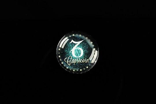 """Cabochon sticla 18mm """"Zodiac Signs"""" capricorn cod 428"""