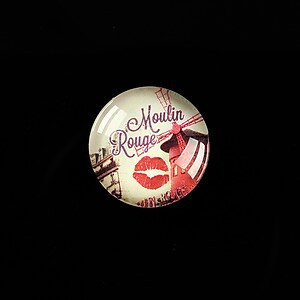 "Cabochon sticla 18mm ""Moulin Rouge"" cod 436"