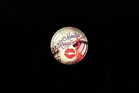 "Cabochon sticla 18mm ""Moulin Rouge"" cod 436"