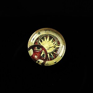 "Cabochon sticla 18mm ""Clock Mechanisms"" cod 437"