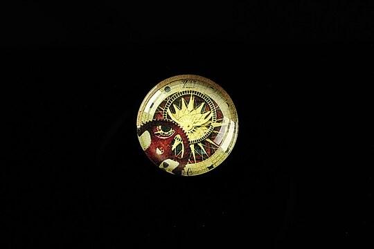 "Cabochon sticla 18mm ""Clock Mechanisms"" cod 437"