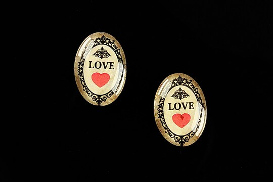 "Cabochon sticla 18x13mm ""All you need is LOVE"" cod 450"