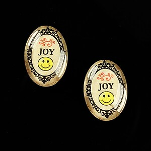 "Cabochon sticla 18x13mm ""All you need is JOY"" cod 454"