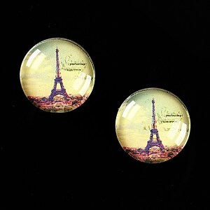 "Cabochon sticla 16mm ""Le Tour Eiffel"" cod 456"