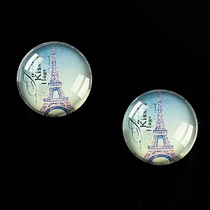 "Cabochon sticla 16mm ""Le Tour Eiffel"" cod 457"