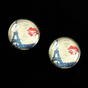 "Cabochon sticla 16mm ""Le Tour Eiffel"" cod 458"