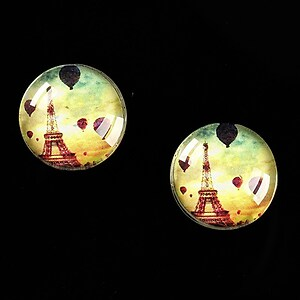 "Cabochon sticla 16mm ""Le Tour Eiffel"" cod 459"