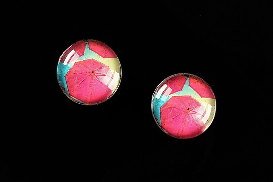 "Cabochon sticla 16mm ""Under Umbrella"" cod 460"
