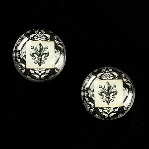 "Cabochon sticla 16mm ""Royal Sign"" cod 464"