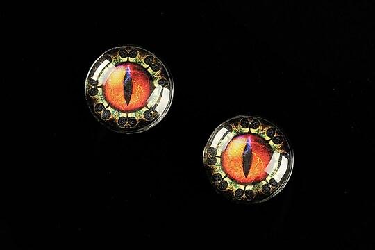 """Cabochon sticla 16mm """"Dragon Eye"""" cod 466"""