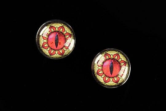 """Cabochon sticla 16mm """"Dragon Eye"""" cod 467"""