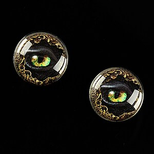 "Cabochon sticla 16mm ""Dragon Eye"" cod 472"