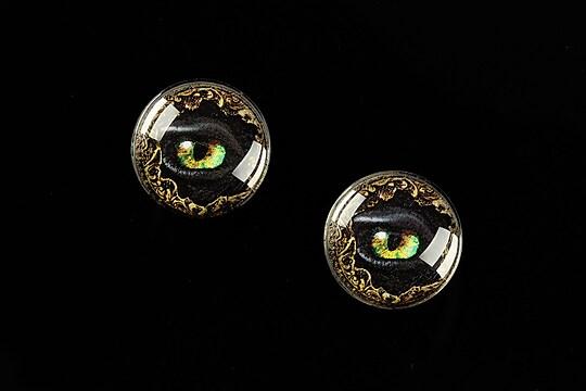 """Cabochon sticla 16mm """"Dragon Eye"""" cod 472"""