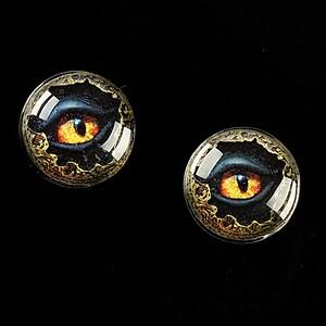 """Cabochon sticla 16mm """"Dragon Eye"""" cod 473"""