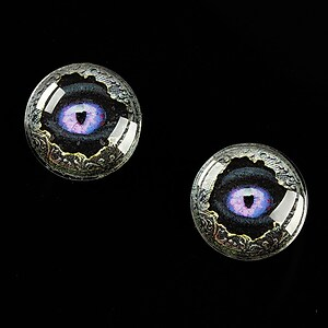"Cabochon sticla 16mm ""Dragon Eye"" cod 474"