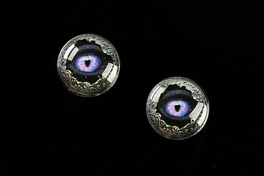 """Cabochon sticla 16mm """"Dragon Eye"""" cod 474"""