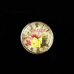 "Cabochon sticla 20mm ""Vintage Clocks"" cod 489"