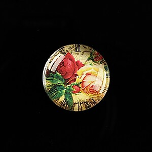 "Cabochon sticla 20mm ""Vintage Clocks"" cod 490"